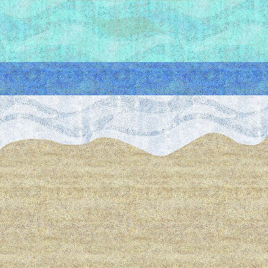 Modern Sandy Beach by Karen Dyson