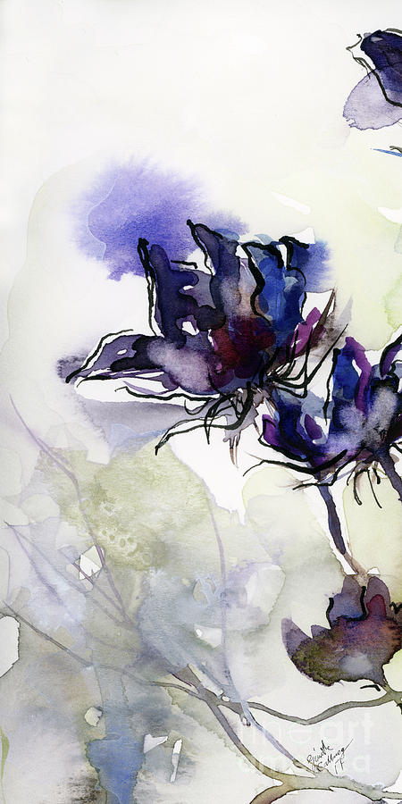 Modern Seeds Pods 1 Watercolor and Ink Painting by Ginette Callaway