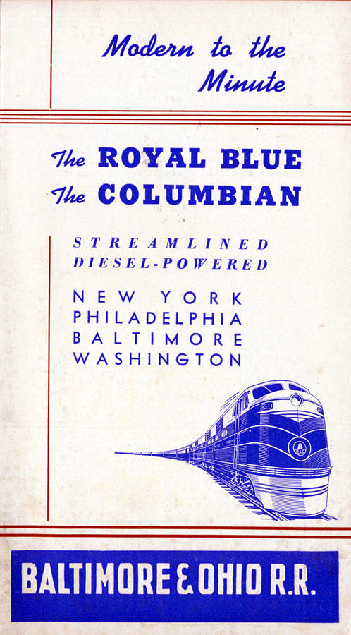 Royal Drawing - Modern to the Minute by Baltimore and Ohio Railroad