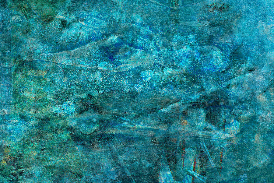 Teal Painting - Modern Turquoise Art - Deep Mystery - Sharon Cummings by Sharon Cummings