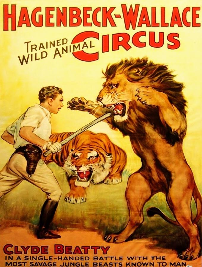 Barnum And Bailey Digital Art - Modern Vintage Circus Poster by ReInVintaged