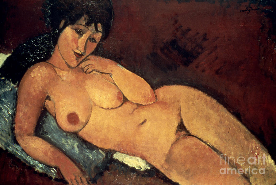 1917 Photograph - Modigliani: Nude, 1917 by Granger
