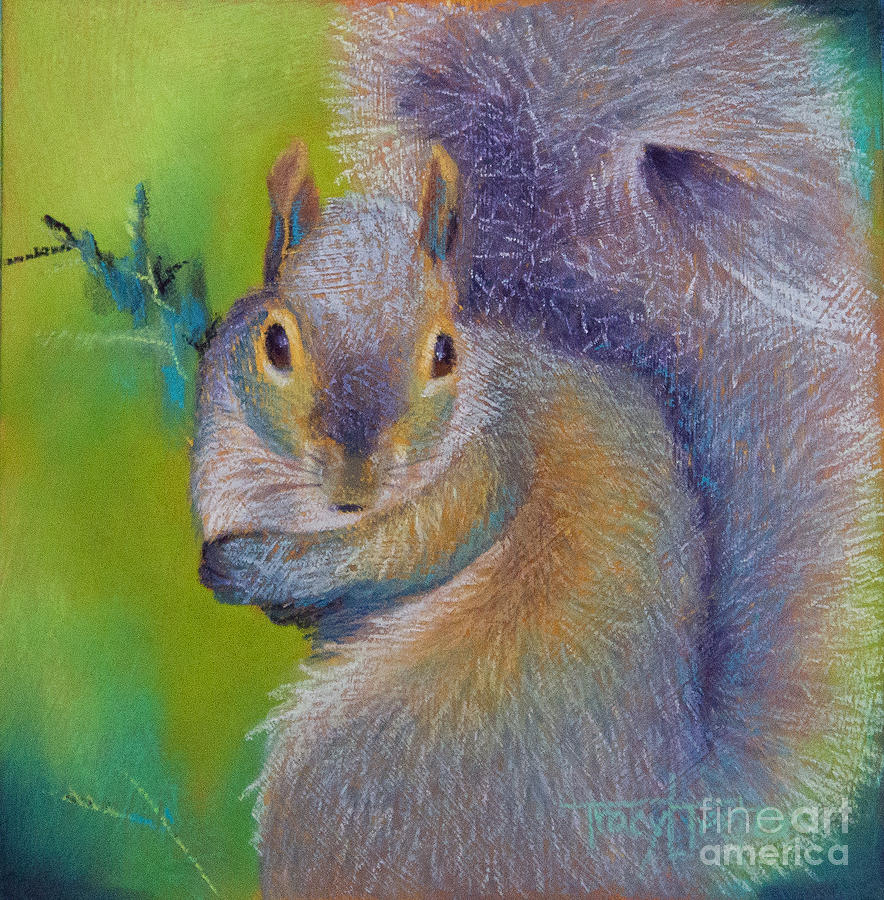 Squirrel Pastel - Moe by Tracy L Teeter