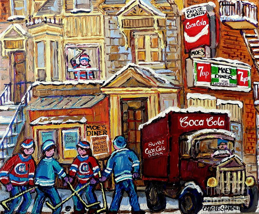 Moe's Corner Snack Bar And Diner Montreal Landmark Restaurant Canadian Art  Carole Spandau
