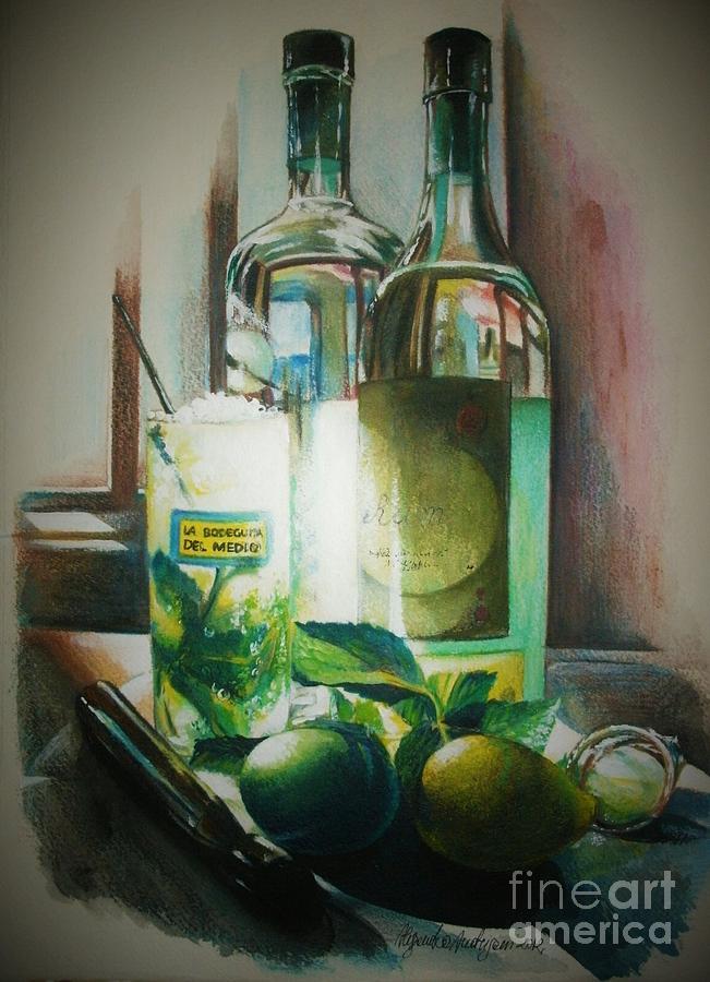 Bottles Painting - Mojito by Alessandra Andrisani