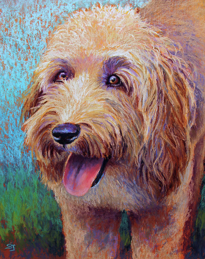 Wheaton Terrier Painting - Mojo The Shaggy Dog by Susan Jenkins