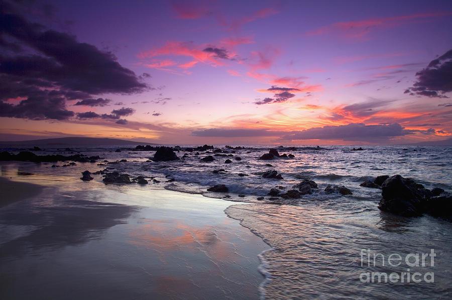 Beach Photograph - Mokapu Beach Sunset by Ron Dahlquist - Printscapes