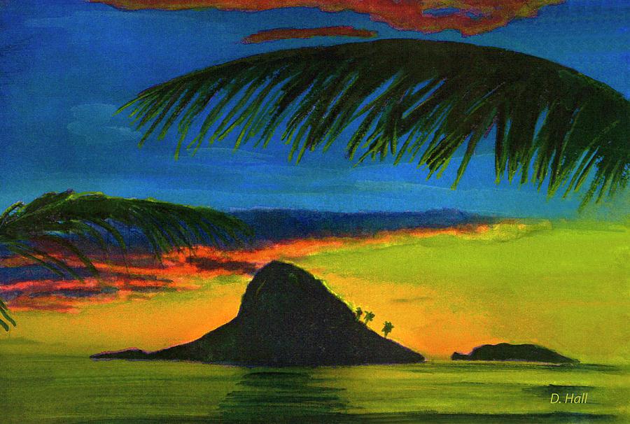 Mokolii Painting - Mokolii Sunset #80  by Donald k Hall