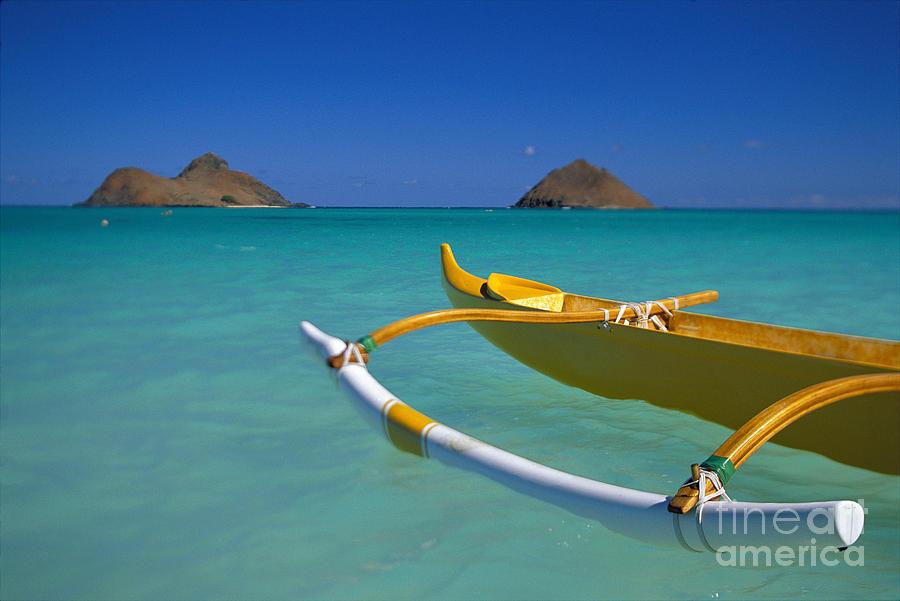 Afternoon Photograph - Mokulua Islands, Outrigger by Dana Edmunds - Printscapes
