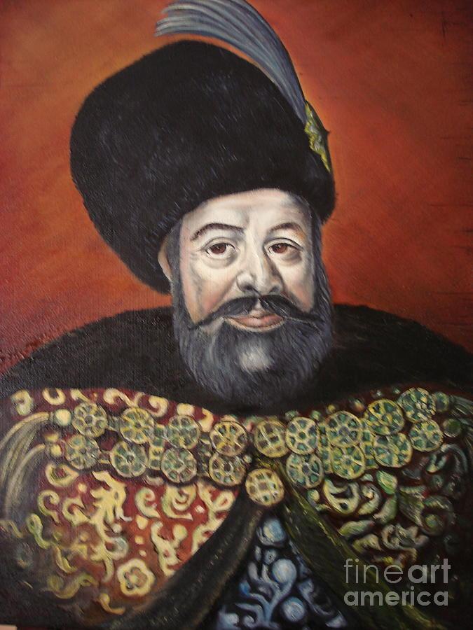 Portrait Painting - Moldavian Prince Vasile Lupu by Sorin Apostolescu