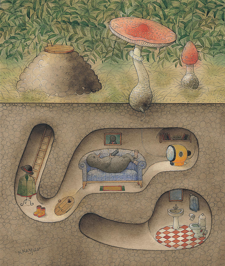 Mole Painting by Kestutis Kasparavicius