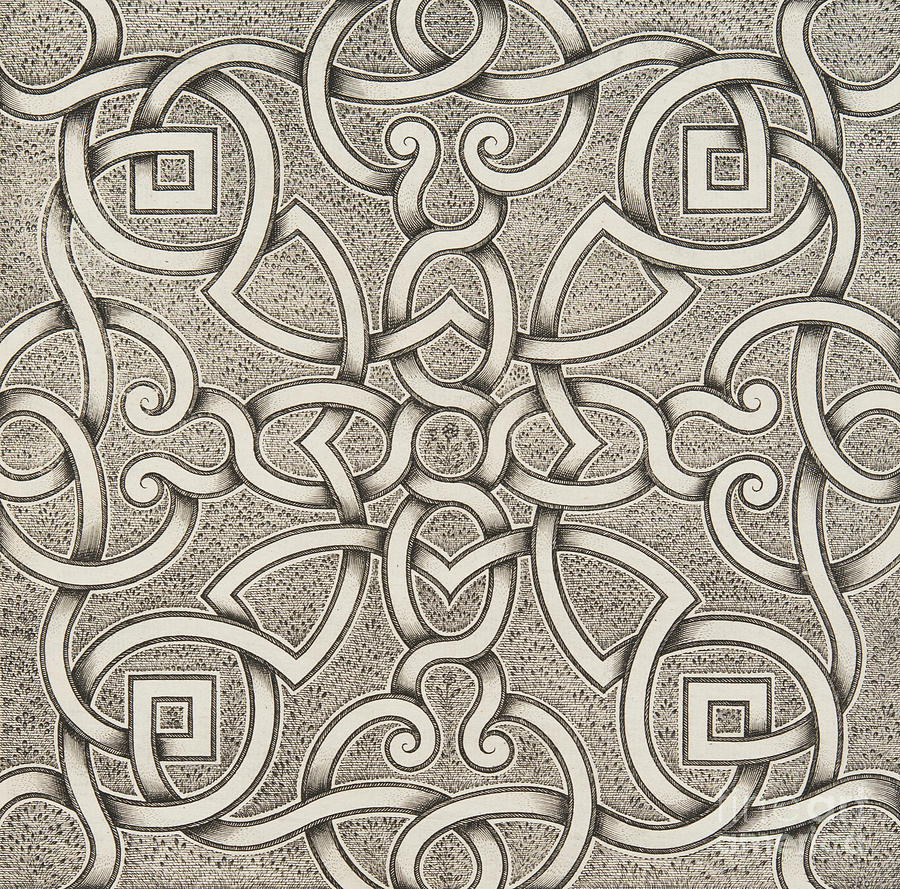 Symmetry Drawing - Mollet Design For A Parterre by Andre Mollet
