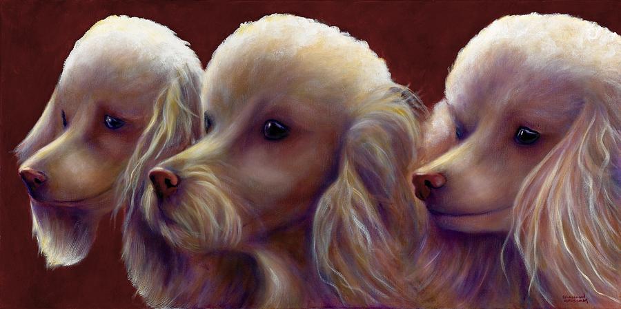 Dogs Painting - Molly Charlie and Abby by Shannon Grissom