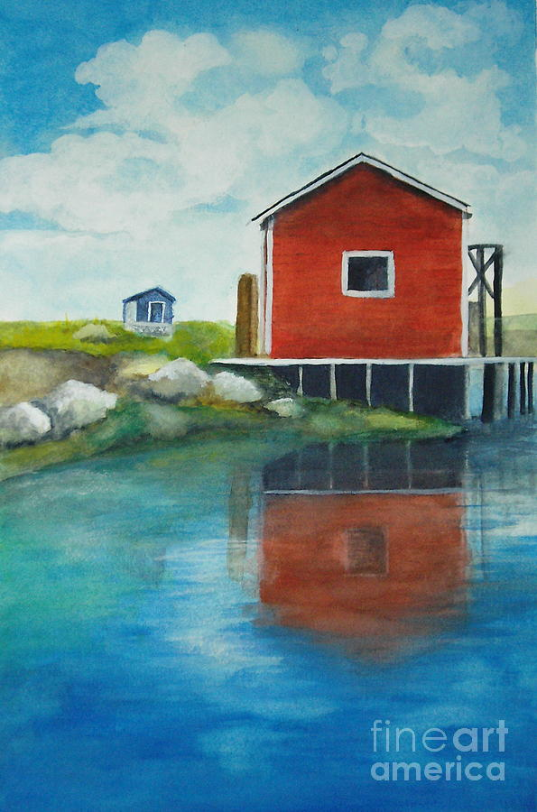 Landscape Painting - Molly by Vivian  Mosley