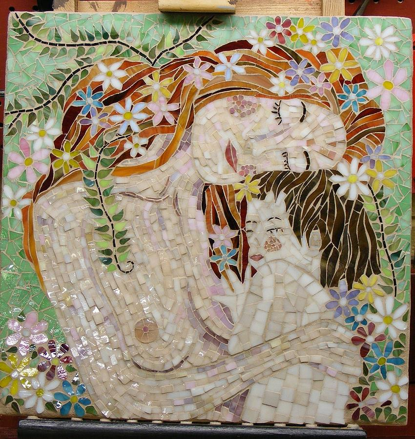 Mosaics Mixed Media - Mollys Gift by Annie Thomas-Burke