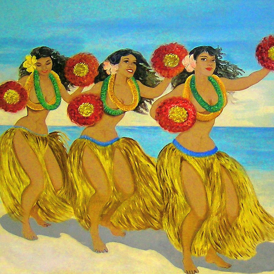 Hula Digital Art - Molokai Hula by James Temple