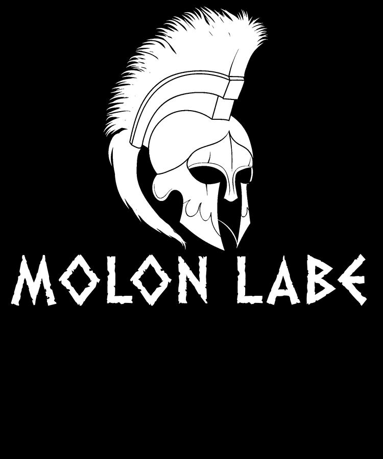 American Flag Digital Art - Molon Labe Spartan Warrior Helmet by Passion Loft