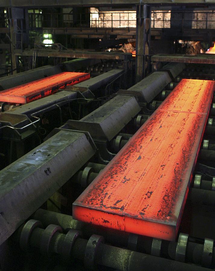 Equipment Photograph - Molten Metal Bars by Ria Novosti