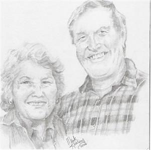 Mom And Jerry Drawing by Mark Keisling