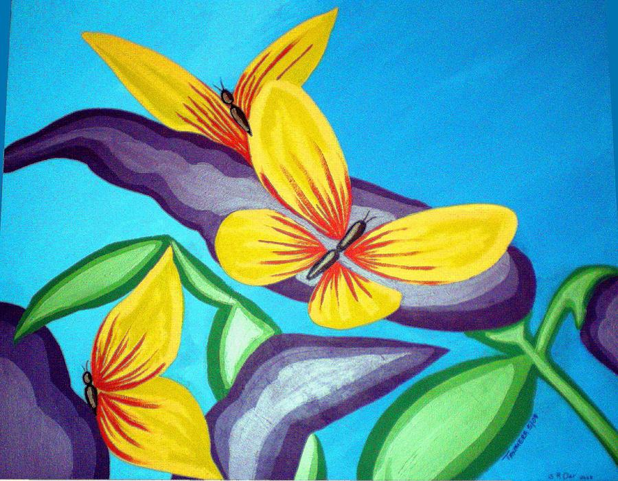 Butterflies Painting - Mom And Me And Butterflies Too by Tammera Malicki-Wong