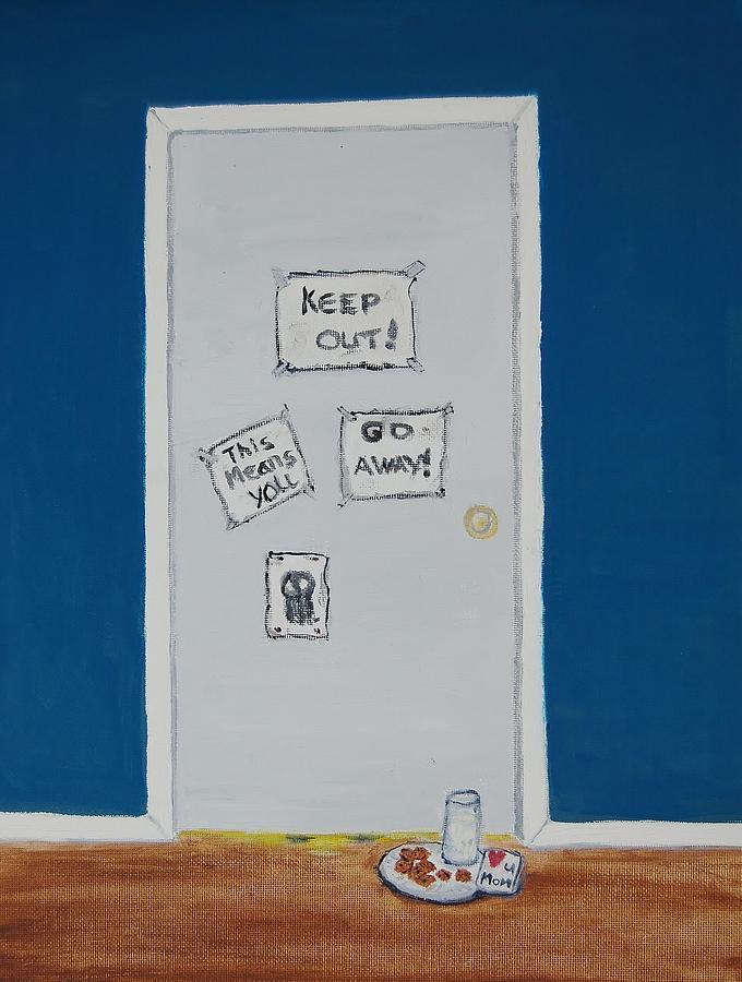 Door Painting - Mom Luvs U by Charla Van Vlack