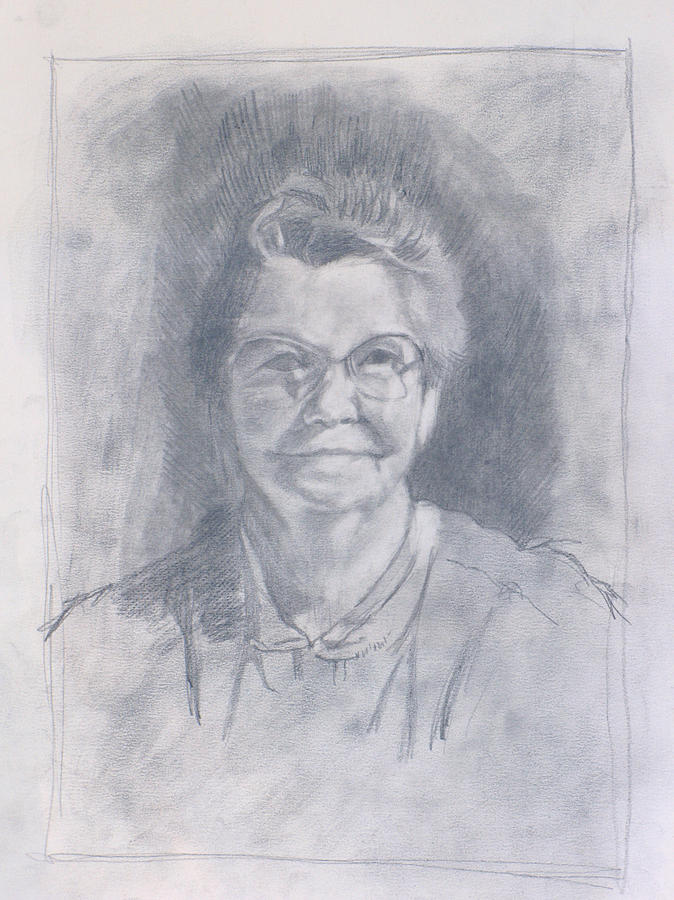 Mom Drawing - Mom Study by Robert Bissett