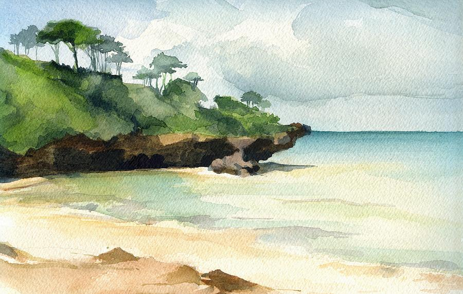 Landscape Painting - Mombasa Beach by Stephanie Aarons
