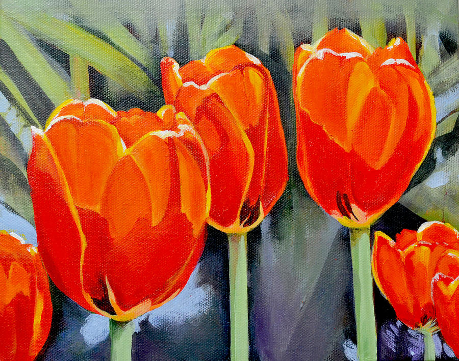 Tulip Painting - Moment In The Sun 3 by Mary Chant