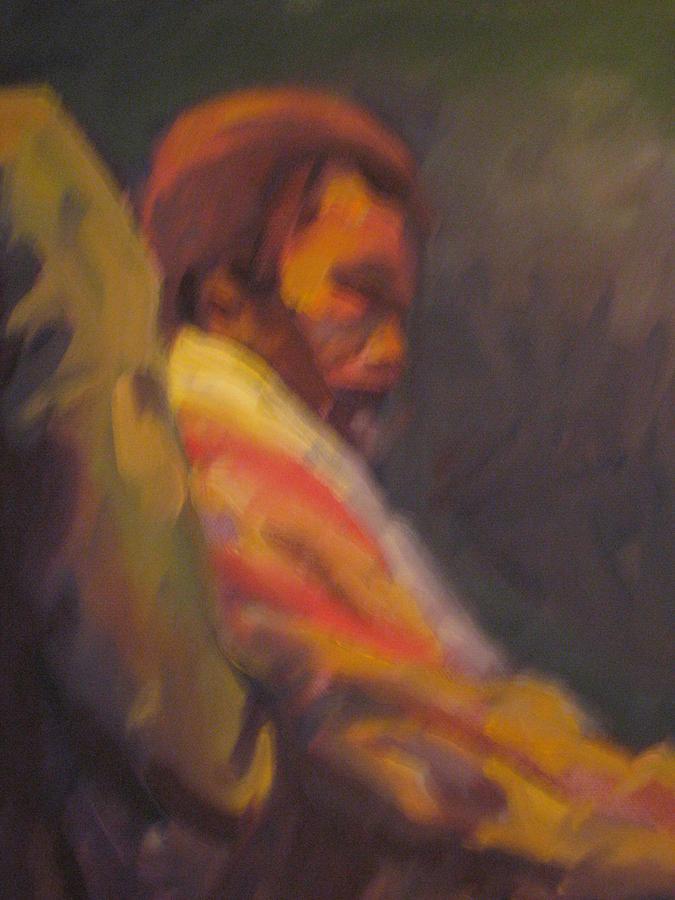 Moment Of Meditation Painting by Pamela Preciado