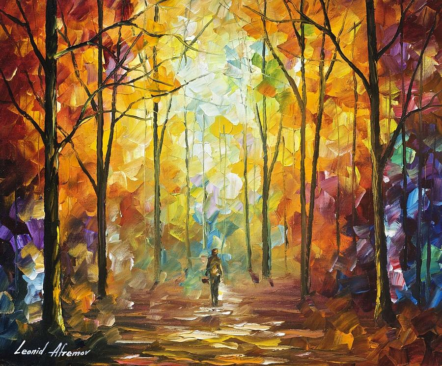 Moment Of Realization Palette Knife Oil Painting On