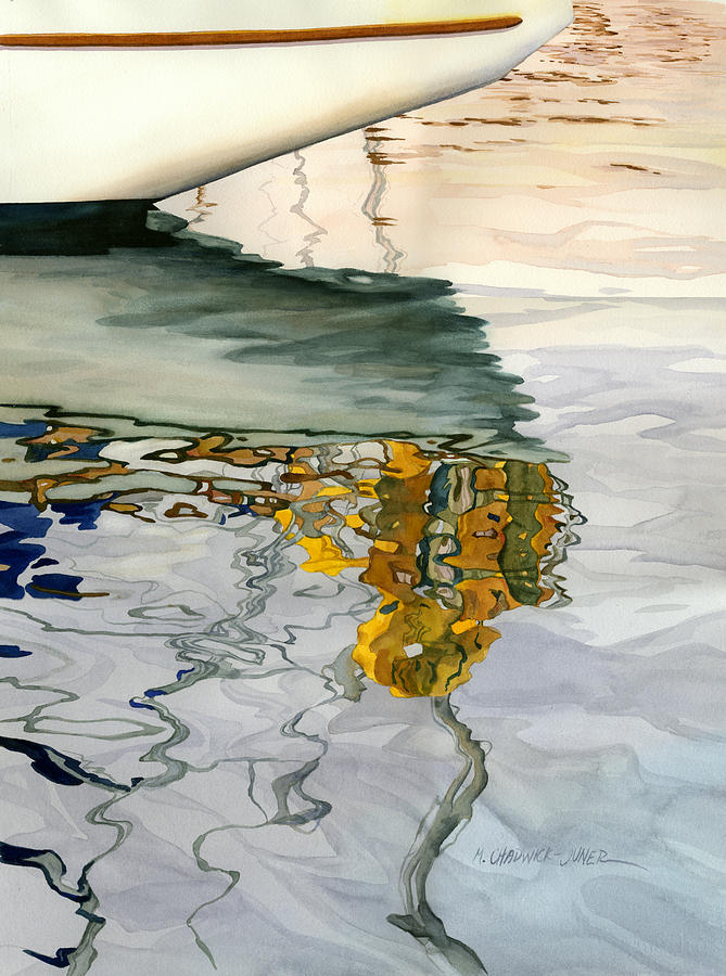 Water Painting - Moment Of Reflection Ix by Marguerite Chadwick-Juner