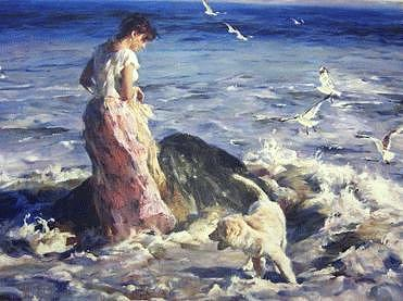 Water Painting - Moments In The Sun by Garmash