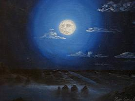 Moon Painting - Moments Like These To Be Alone by David Corrigan