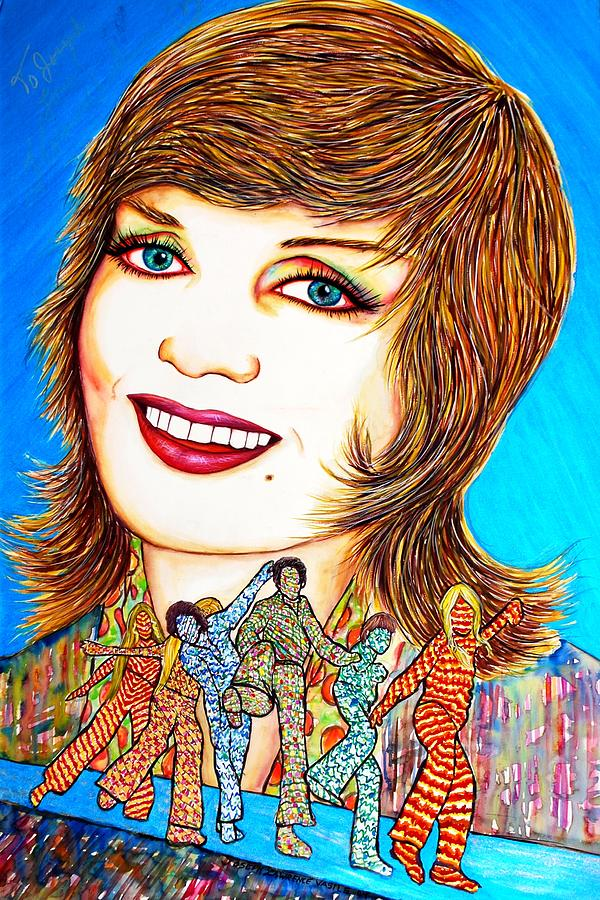 Actress Mixed Media - Momma Brady N Da Bunch by Joseph Lawrence Vasile
