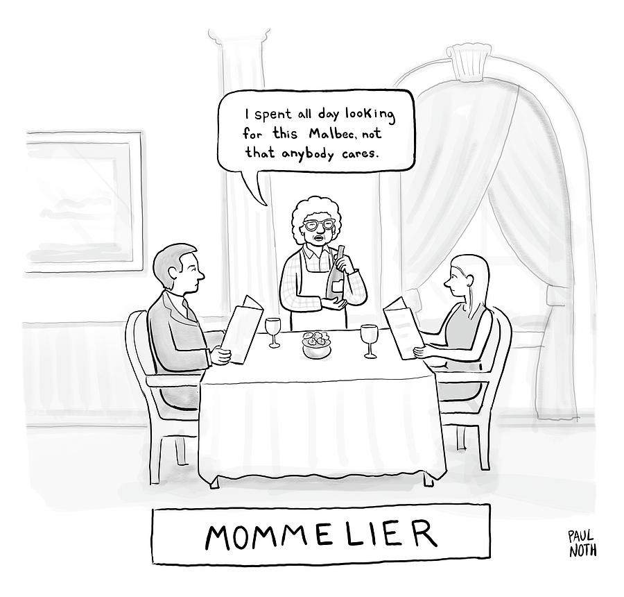 Mommelier Drawing by Paul Noth