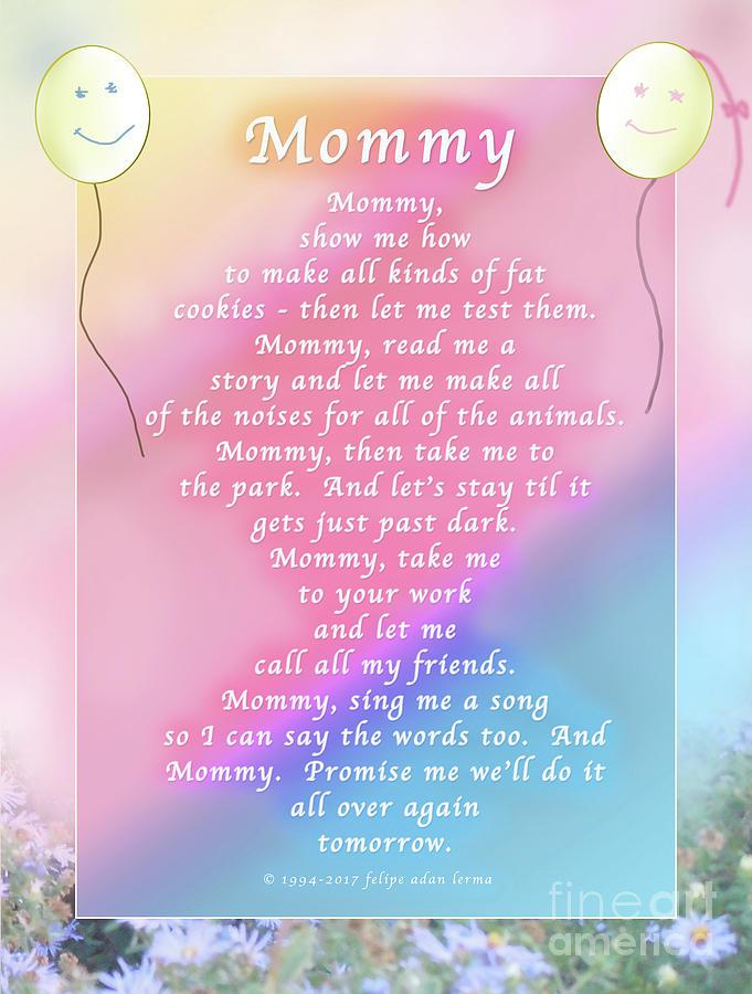 Love Photograph - Mommy, An Original Writing by Felipe Adan Lerma