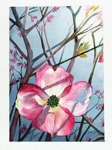 Dogwood Painting - Moms Dogwood by Linda  Marie Carroll