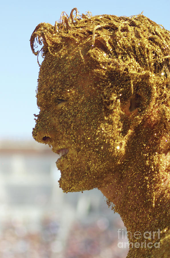 Gold Body Paint Photograph - Moms Golden Boy by Allen Simmons