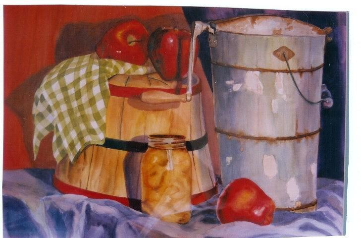 Still Life Painting - Moms Icecream Freezer by Jayne Bradley