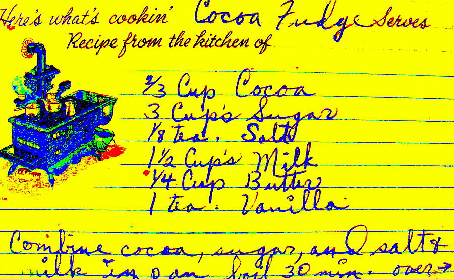 Recipe Photograph - Moms Old Recipe by Ed Smith