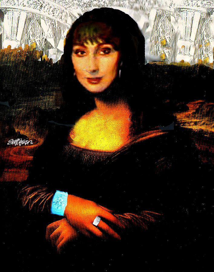 Mona Lisa Digital Art - Mona Cher by Seth Weaver