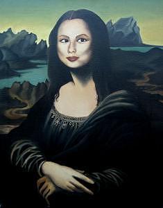 Self Portrait Painting - Mona Lana by Lana Cheng