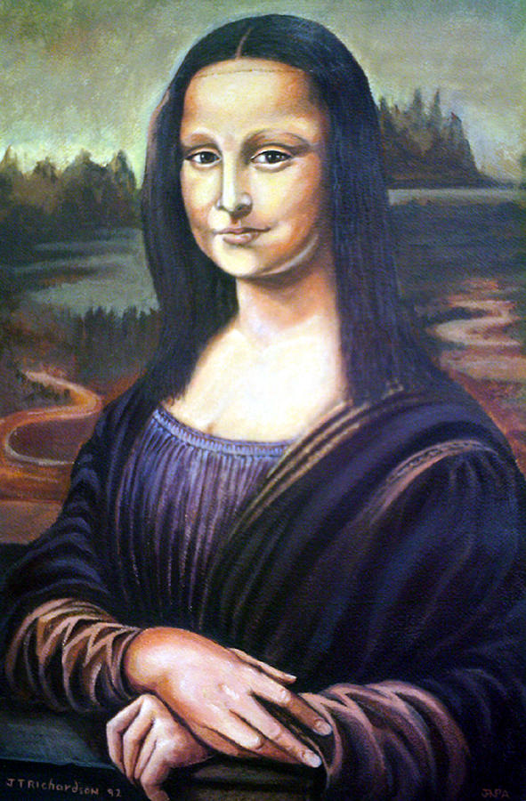 Mona Liisa Painting by James Richardson