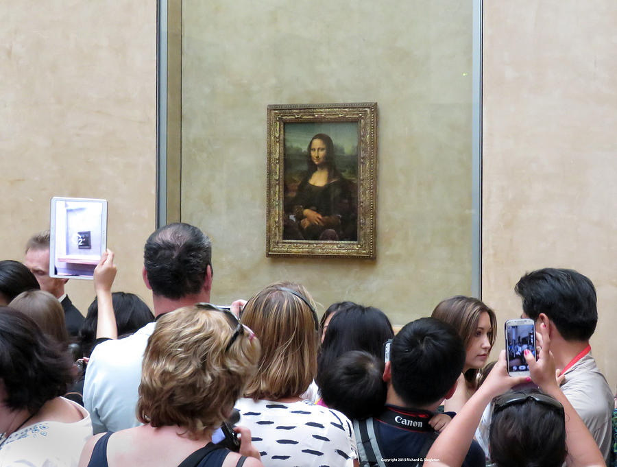 Mona Lisa Mania Paris France Louvre Gallery Photograph by