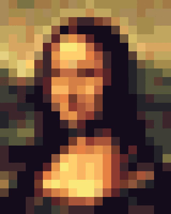 Mona Lisa Pixelface Digital Art By Pixel Face