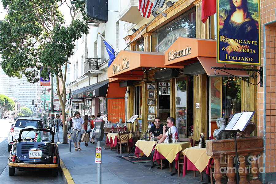 Mona Lisa Restaurant Outdoor Dining North Beach San Francisco California 7d7451