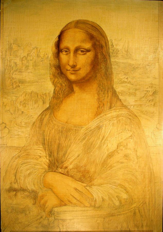 Mona Lisa Painting - Mona Lisa Study  by Steven Paul Carlson