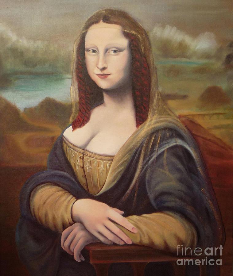 Mona Lisa Painting - Mona by Serena Van Vranken