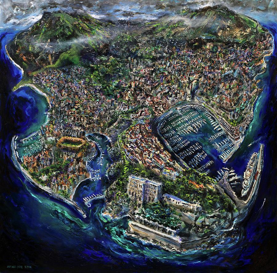 Monaco Painting - Monaco by Antonio Ortiz