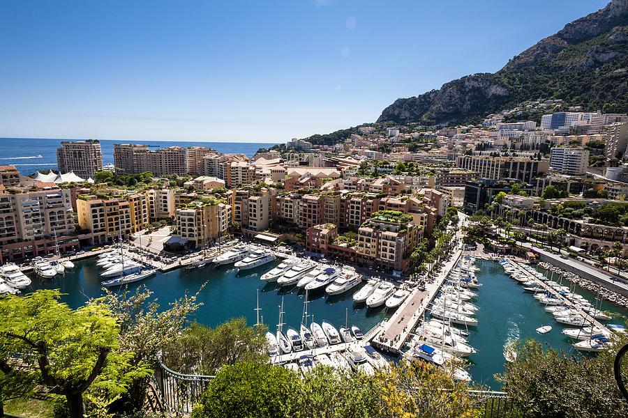 Monaco Photograph - Monaco Harbor View by Bryan Toro